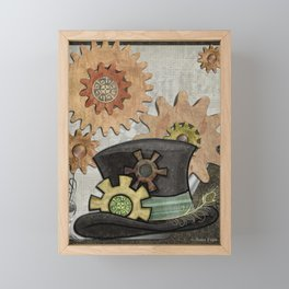 Steam Sass Steampunk Mixed Media Framed Mini Art Print