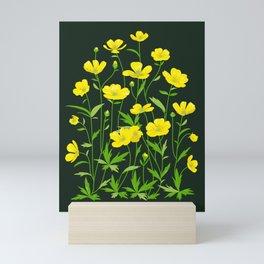 Wildflowers Pattern 2 Mini Art Print