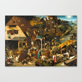 Pieter Bruegel the Elder - Netherlandish Proverbs Canvas Print