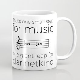 Crossing the break (clarinet) Coffee Mug