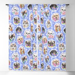 Lacy Dogs Blackout Curtain