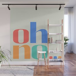 ohno... Colourful Typographic Artwork Wall Mural