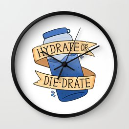 Hydrate or Diedrate Wall Clock