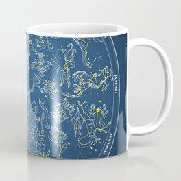 Constellations of the Northern Sky - Negative version Coffee Mug