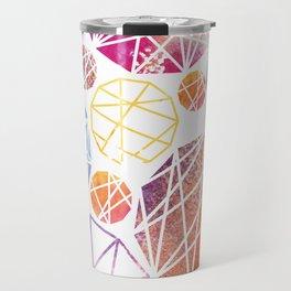 Watercolor Geometric Pattern Travel Mug