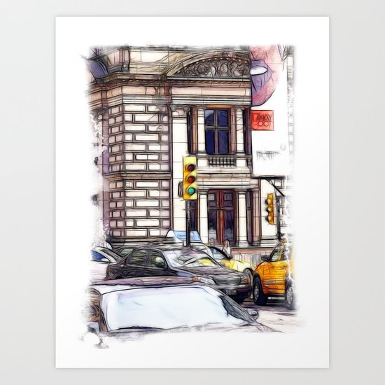 At the Junction Art Print