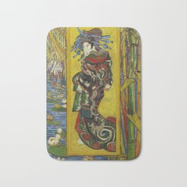 Van Gogh - Courtesan (after Eisen) Bath Mat