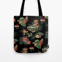 classic Tote Bags featuring Classic Jurassic by Josh Ln