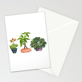 Potted Plant Critters 5 Stationery Cards
