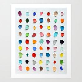 Infinite Polka Daubs 2 Art Print