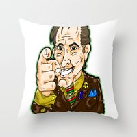 better call saul Throw Pillows featuring Better Call Saul...  Attorney Saul Goodman from Breaking Bad  by beetoons