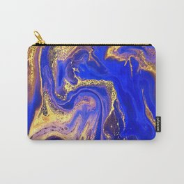 Marble gold and deep blue Carry-All Pouch