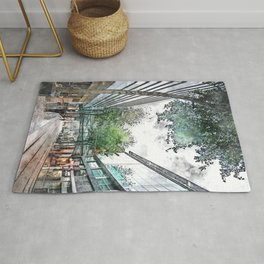 Manchester city watercolor #manchester Rug