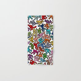 Homage to Keith Haring Color Hand & Bath Towel