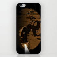 oil iPhone & iPod Skins featuring oil monster by ErDavid