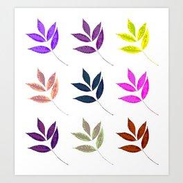 Leaf Pattern Anthropologie inspired boho gypsy decor Art Print