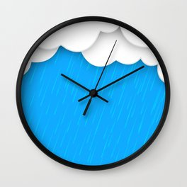 Abstract 3D Rain Wall Clock