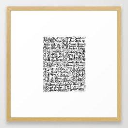 For Alan Framed Art Print