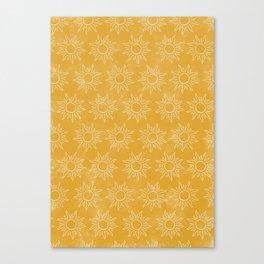 Sun pattern Canvas Print