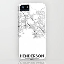 Minimal City Maps - Map Of Henderson, Nevada, United States iPhone Case