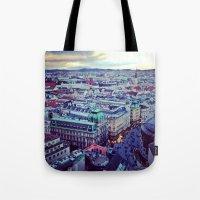 vienna Tote Bags featuring Vienna by SandraHuezo