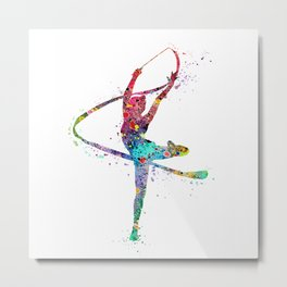 Rhythmic Gymnastics Print Sports Print Watercolor Print Metal Print