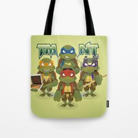 tmnt Tote Bags featuring TMNT by Micka Design