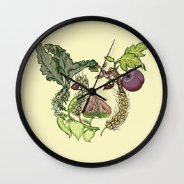 Botanical Pig Wall Clock