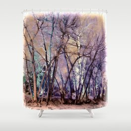 Trees are Poems That the Earth Writes Upon the Sky Shower Curtain