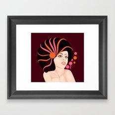 Snail Lady Framed Art Print