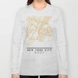 NEW YORK CITY NEW YORK CITY STREET MAP ART Long Sleeve T-shirt