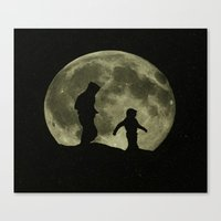 walk the moon Canvas Prints featuring Moon walk II by Peaky40