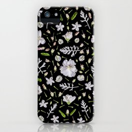 Leaves and flowers (10) iPhone Case