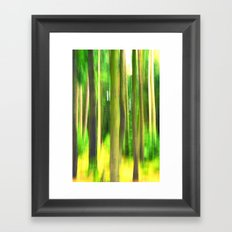 Abstract blur image of green forest. Framed Art Print