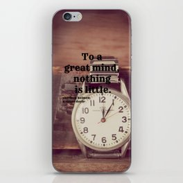Great Mind Sherlock Holmes iPhone Skin