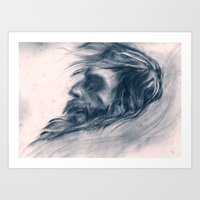 john snow Art Prints featuring Snow Angel by Kent St. John
