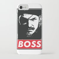 metal gear solid iPhone & iPod Cases featuring Big Boss - Metal Gear Solid by TxzDesign