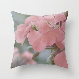 Zonal Pelargonium Neon Pink Throw Pillow