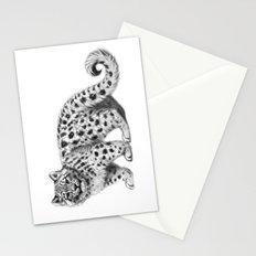 Snow Leopard cub g142 Stationery Cards