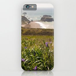 Spring Flowers in Jenner Headlands, Sonoma County Coast, Goat Rock, Coastal Photography, California Art iPhone Case