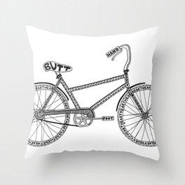 Anatomy of a Bike Throw Pillow