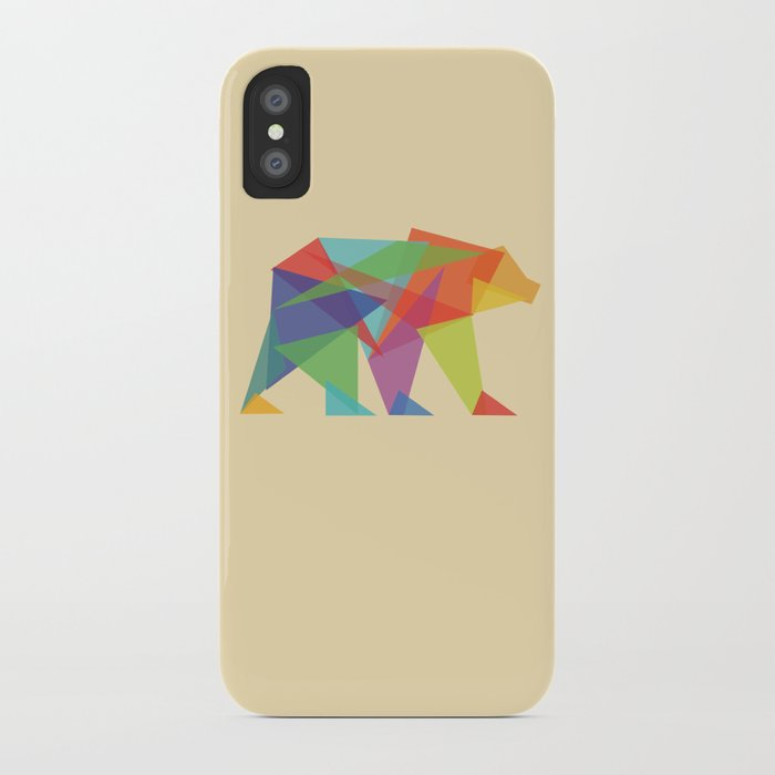 Fractal Geometric bear iPhone Case