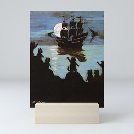 Cats & A Ship - Louis Wain Mini Art Print