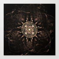 clockwork Canvas Prints featuring Clockwork by CreativeByDesign