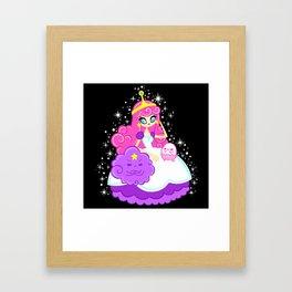 Princess Bubble Gum Framed Art Print