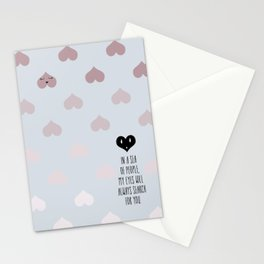 SEA OF HEARTS Stationery Cards