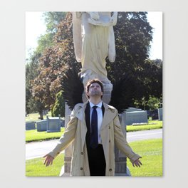 Eyes Toward Heaven Castiel Canvas Print
