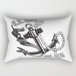 Navy Mermaid Rectangular Pillow