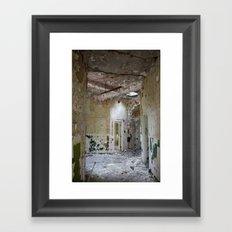 Forgotten Corridors Framed Art Print