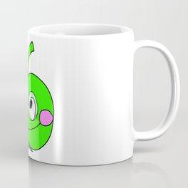 Hand drawn drawing funny green Apple Coffee Mug
